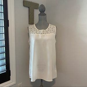 Nicole Miller Original sleeveless top with lace